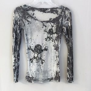 Tops - Fitted Skull Layering Top